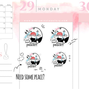 Mom life, want peace Beanie planner stickers - Every Minute A Story