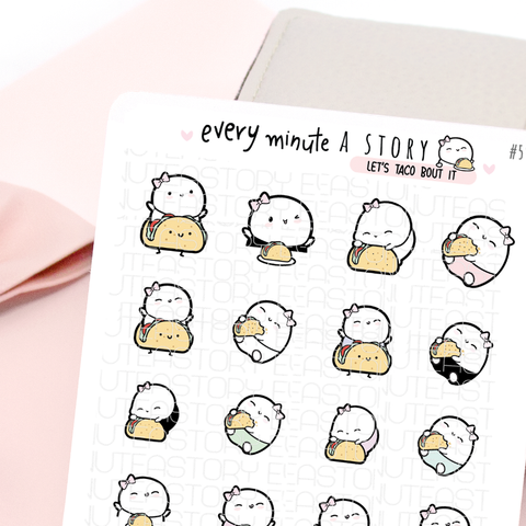Taco planner stickers, taco Tuesday, Mexican food
