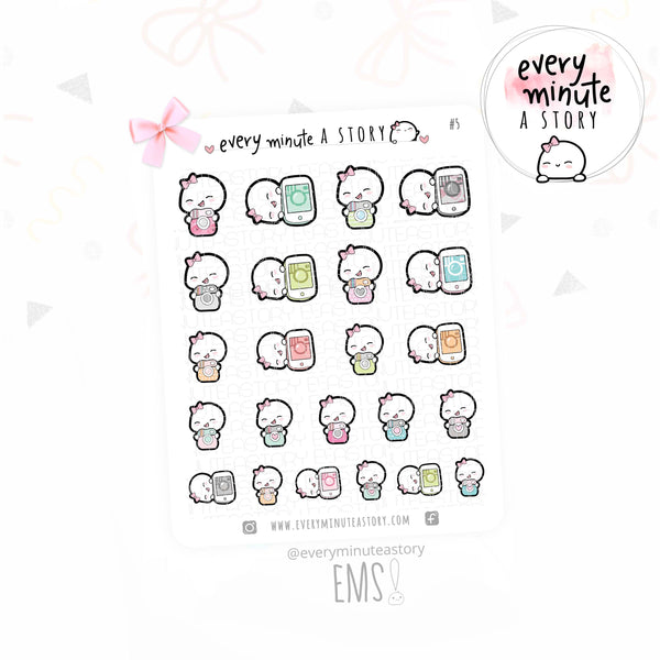 Instagram, social media Beanie planner stickers- LOW STOCK!