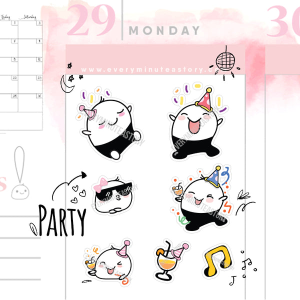 Beanie night out/party planner stickers - Every Minute A Story
