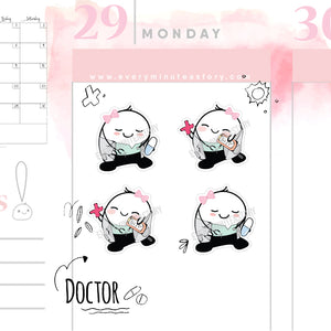 Beanie doctor appointment reminder stickers - Every Minute A Story