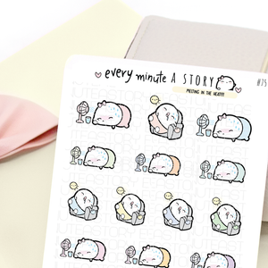 Too hot, melting in the heat summer Beanie planner stickers