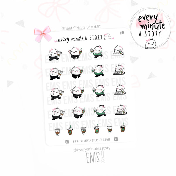 Beanie Starbucks planner stickers - Every Minute A Story
