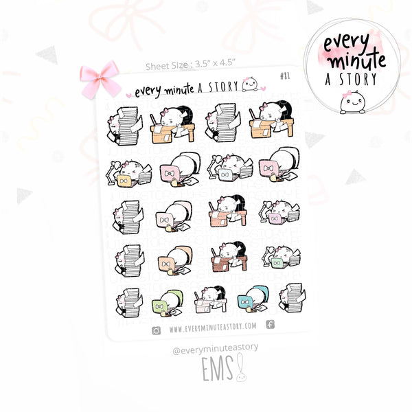 Busy week, work overload planner stickers - Every Minute A Story