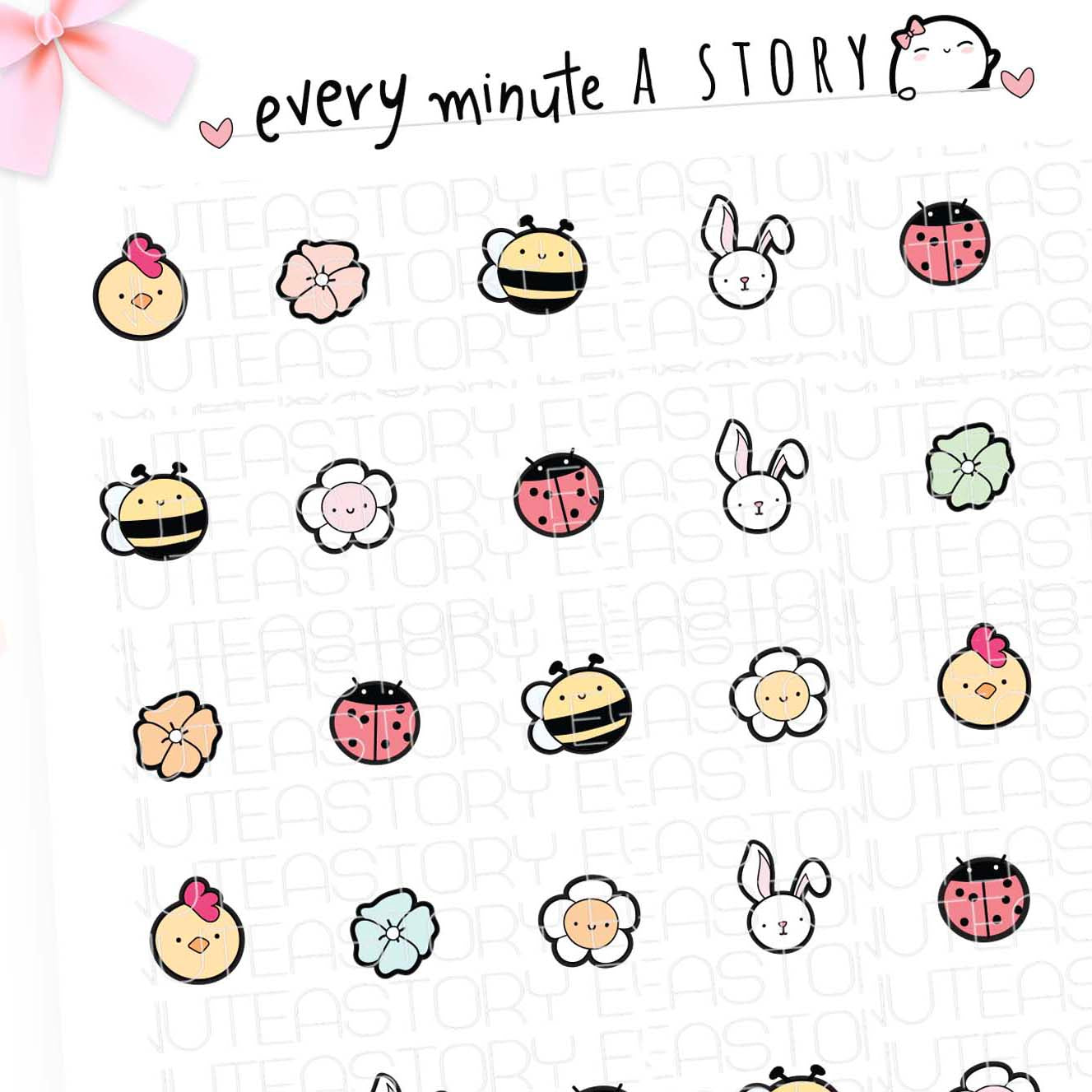 Spring checklist icons planner stickers- LOW Stock!!