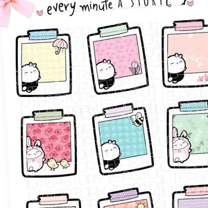 Beanie Spring notes planner stickers- LOW STOCK!