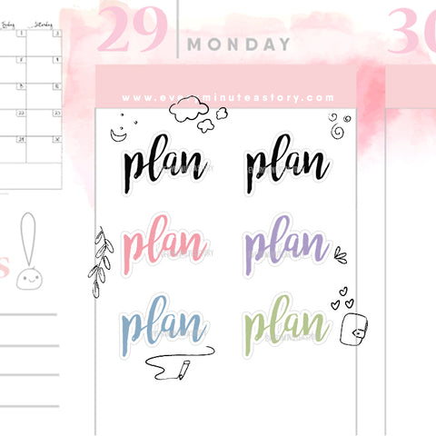 Plan word planner stickers - Every Minute A Story