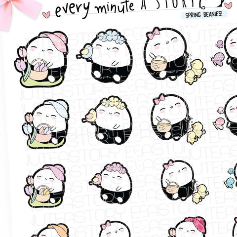 Fun in Spring Beanie planner stickers- LOW STOCK!