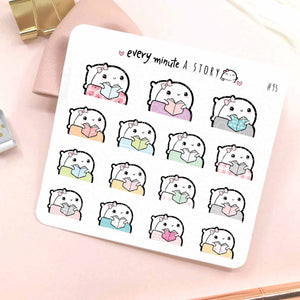 Beanie cozy reading planner stickers-LOW STOCK!