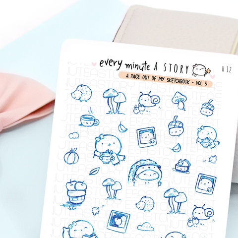 'A page out of my sketch book' Vol.5 fall stickers | LIMITED STOCK!