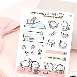 New Year 2020, 365 new days-365 new chances planner Stickers
