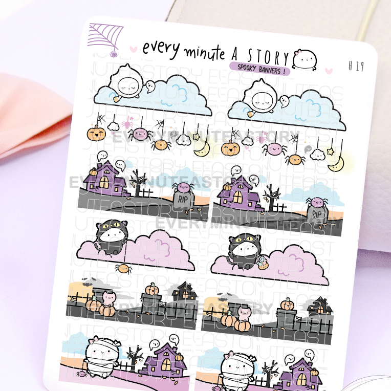 Spooky banners Vol.2, Halloween- LOW STOCK!