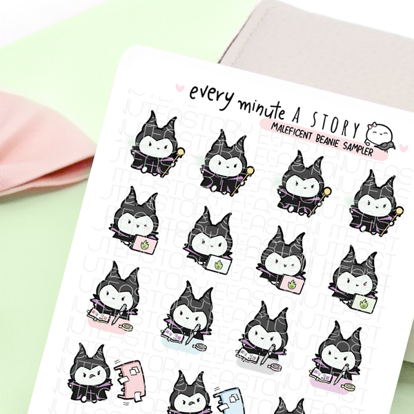 Maleficent sticker sampler, flipping tables, planning desk, work-LOW STOCK!