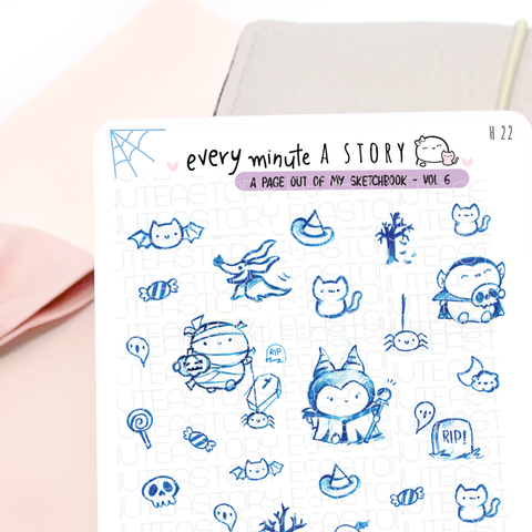 'A page out of my sketch book' Vol.6 stickers | -LOW STOCK!