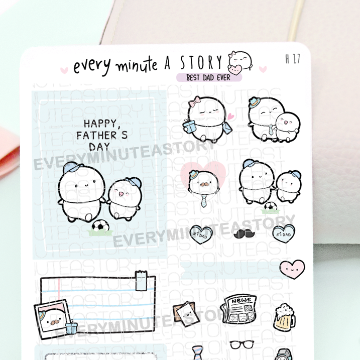 Happy Father's Day sticker sampler-LOW STOCK!
