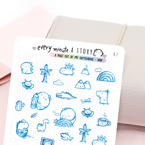 LIMITED STOCK! 'A page out of my sketch book' Vol.4 stickers