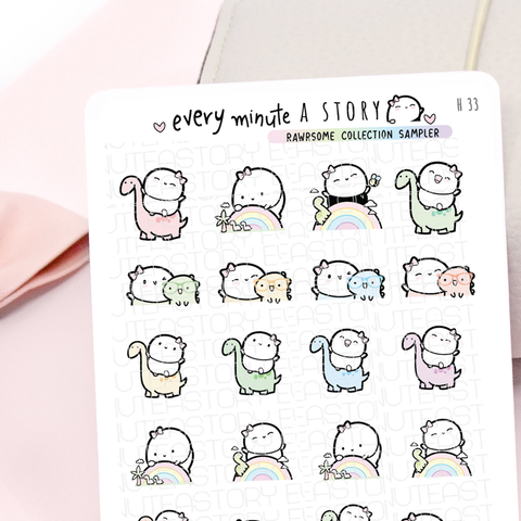 Rawrsome Dino collection sampler, planner stickers