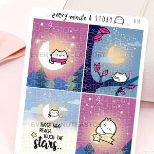 Star gazing kitty full boxes, starry nights