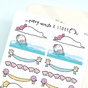 Summer banners planner stickers- LOW STOCK!