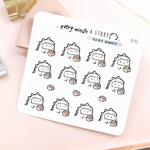 Tea-rex, tea planner stickers