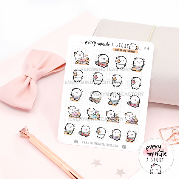 Fall in love beanie sampler stickers- LOW SOTCK~!