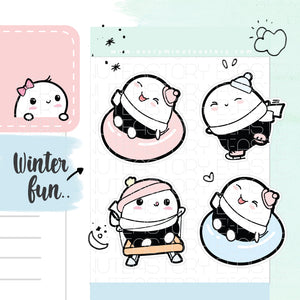 Beanie winter activities planner stickers - Every Minute A Story