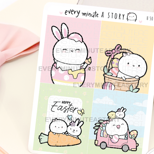 Easter full boxes planner stickers
