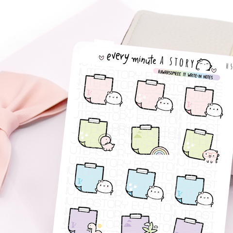 Beanie dino notes stickies planner stickers