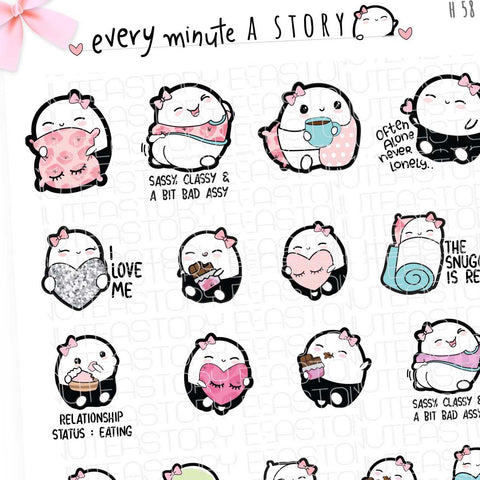 Me special Valentines Beanie planner stickers