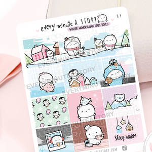Winter wonderland Hobonichi weeks boxes
