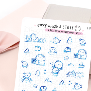 'A page out of my sketch book' Vol.7 winter stickers | LIMITED STOCK!