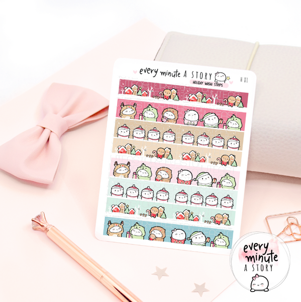 Holiday magic washi strips stickers