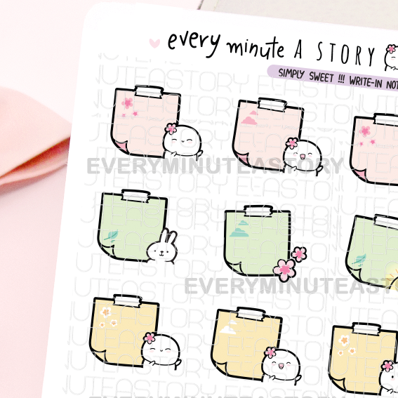 Spring mist write-in notes-LOW STOCK!