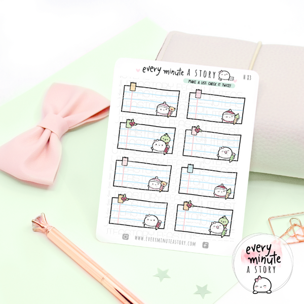 Make it a list, holiday write in lists, notes stickers-LOW STOCK!