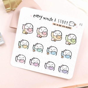 Cozy reading fall stickers-LOW STOCK!