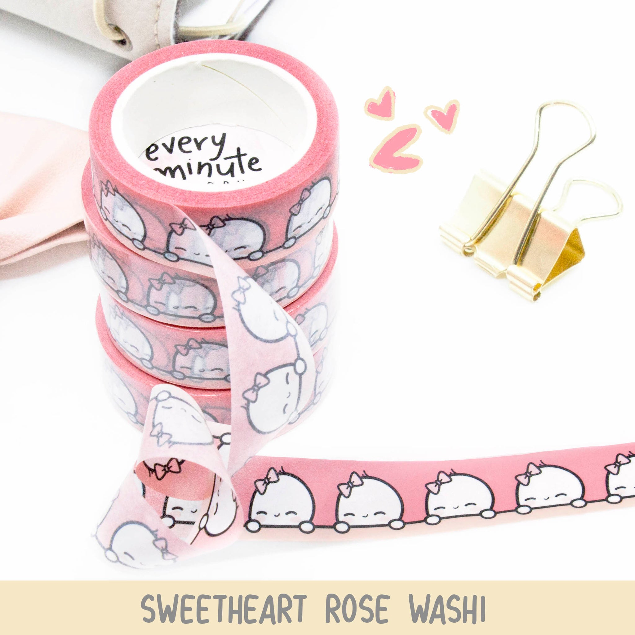 Sweetheart Rose Beanie Washi Tape- Limited Stock.