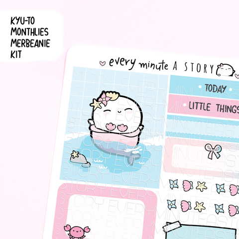 Mermaid Kyu-to Beanie Monthlies Kit