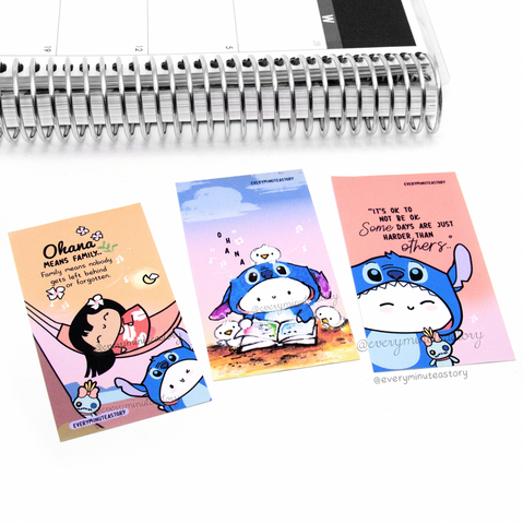 Lilo and Stitch notecards/mini journaling cards, art print- LIMITED STOCK!
