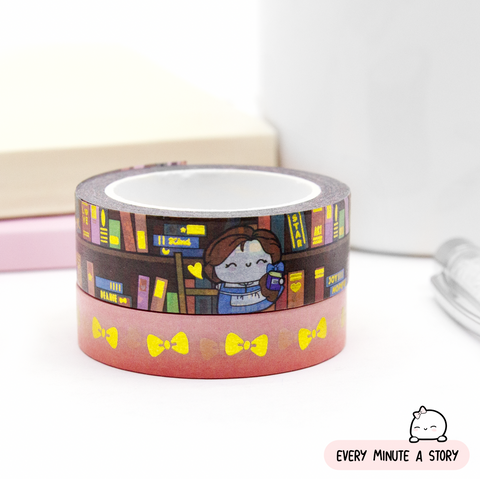 Belle's Library washi Set of 2, Gold foil | Limited Stock!!