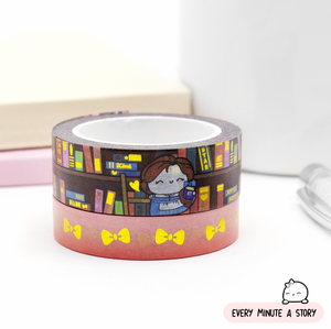 Belle's Library washi Set of 2, Gold foil | LAST STOCK!