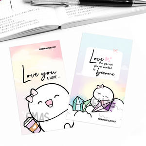 Self love notecards/mini journaling cards set of 2- LIMITED STOCK!