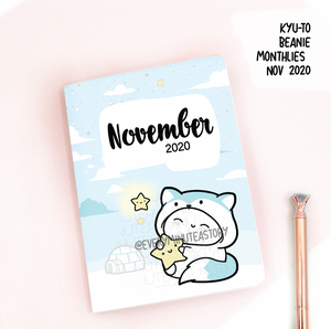 November 2020, Kyu-to Beanie Monthlies | Printed Insert, Inserts