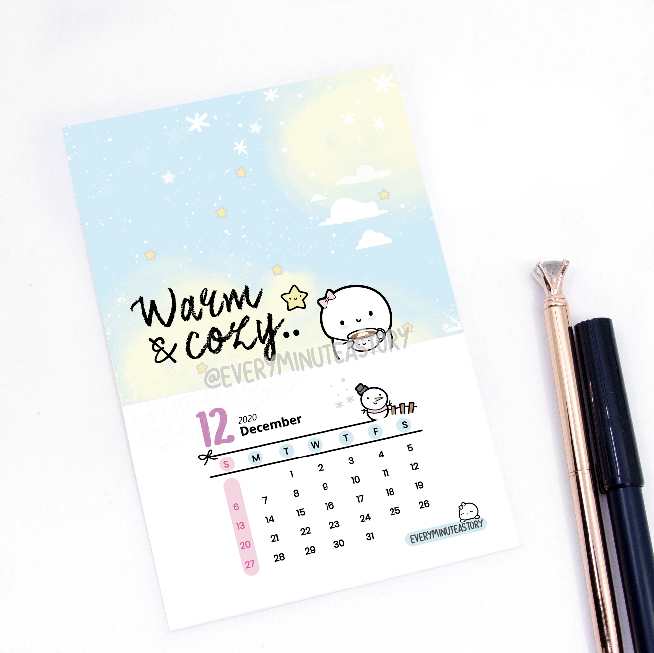 December 2020 Beanie Journaling/Postcard- LIMITED STOCK!