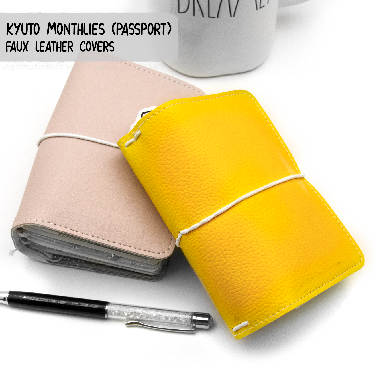 Faux Leather/vegan Cover for Kyu-to Monthlies Insert | Limited Stock!!