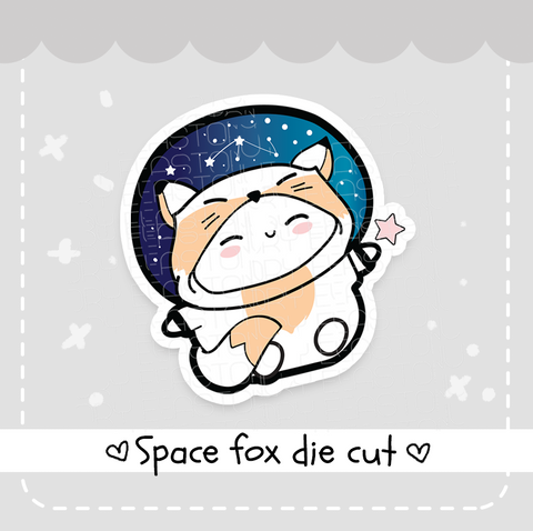 Beanie Space fox die cut