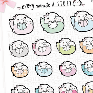 Read to baby Beanie planner stickers
