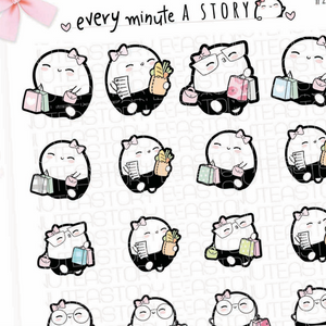 Shopping Beanies planner stickers