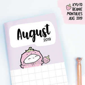August 2019, Kyu-to Beanie Monthlies | Printed Insert, Inserts
