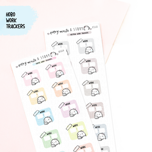 Work trackers for Hobonichi weeks, hobo weeks- LOW STOCK!