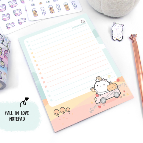 Oops Beanie notepad | Fall in Love | LIMITED STOCK!